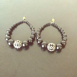 Jewelry - Onyx Hoop Earrings